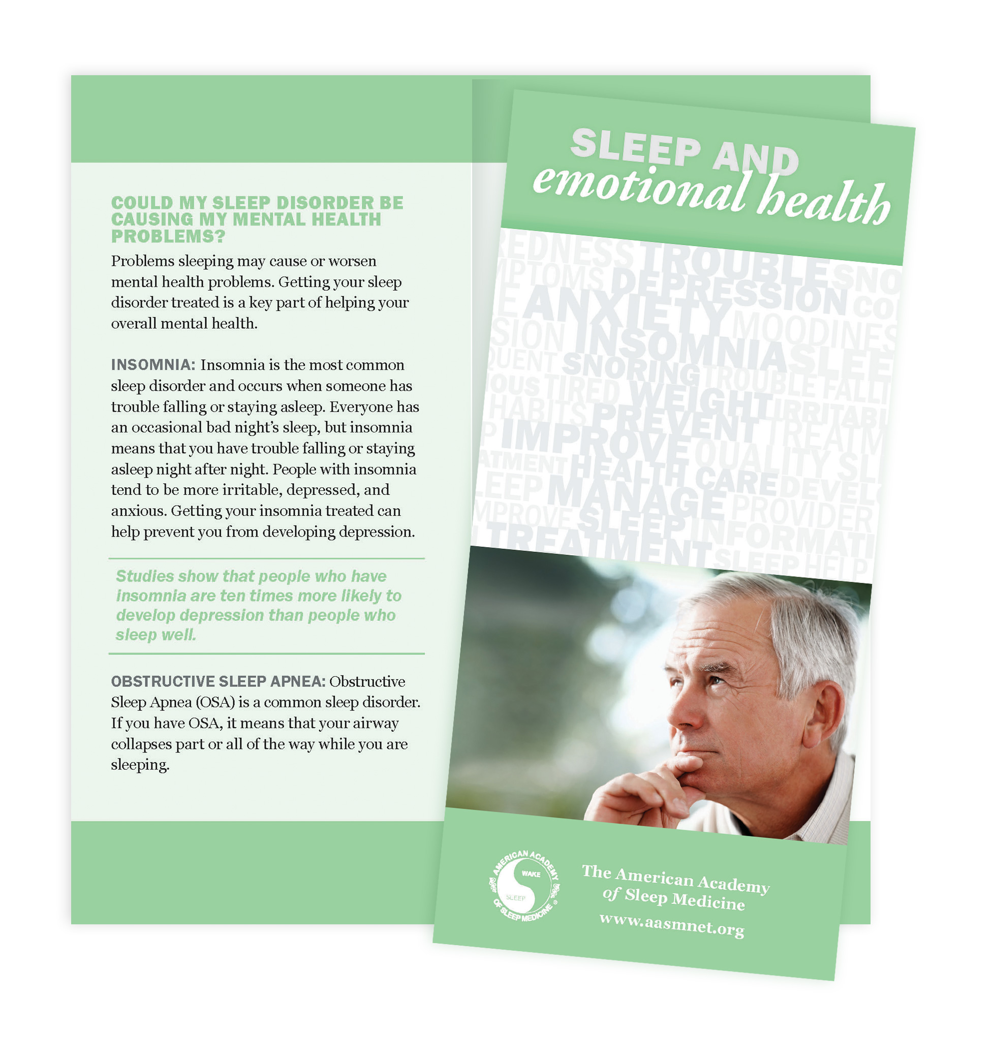 Sleep & Emotional Health Patient Education Brochures (50 brochures)