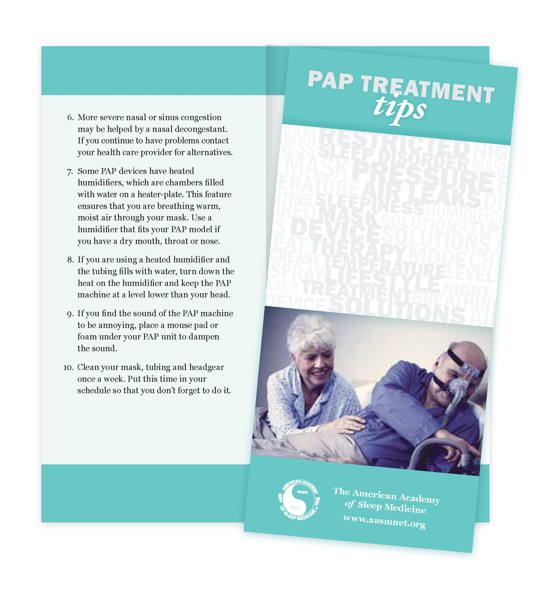 PAP Treatment Tips Patient Education Brochures (50 brochures)