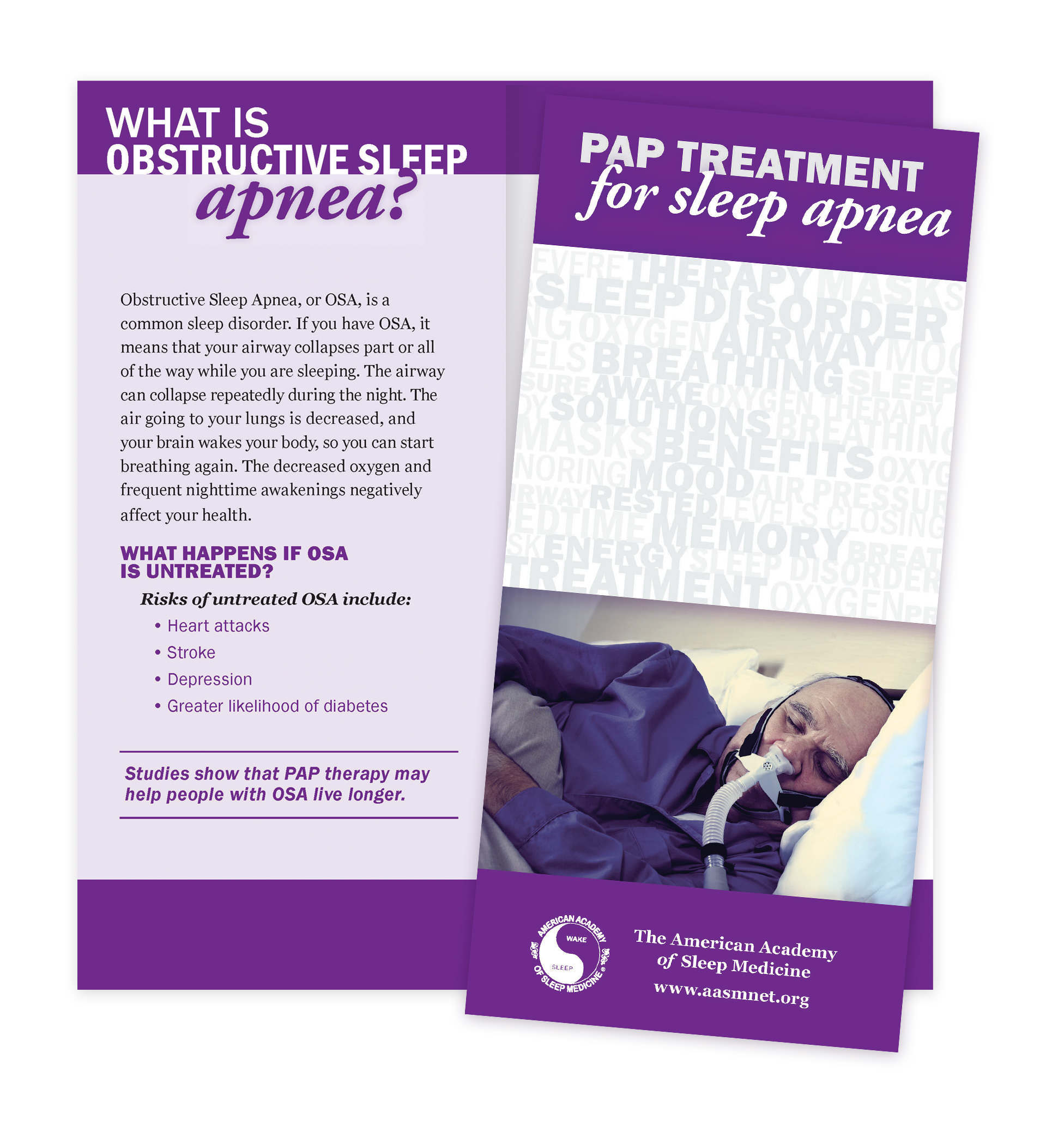PAP Treatment for Sleep Apnea Patient Education Brochures (50 brochures)