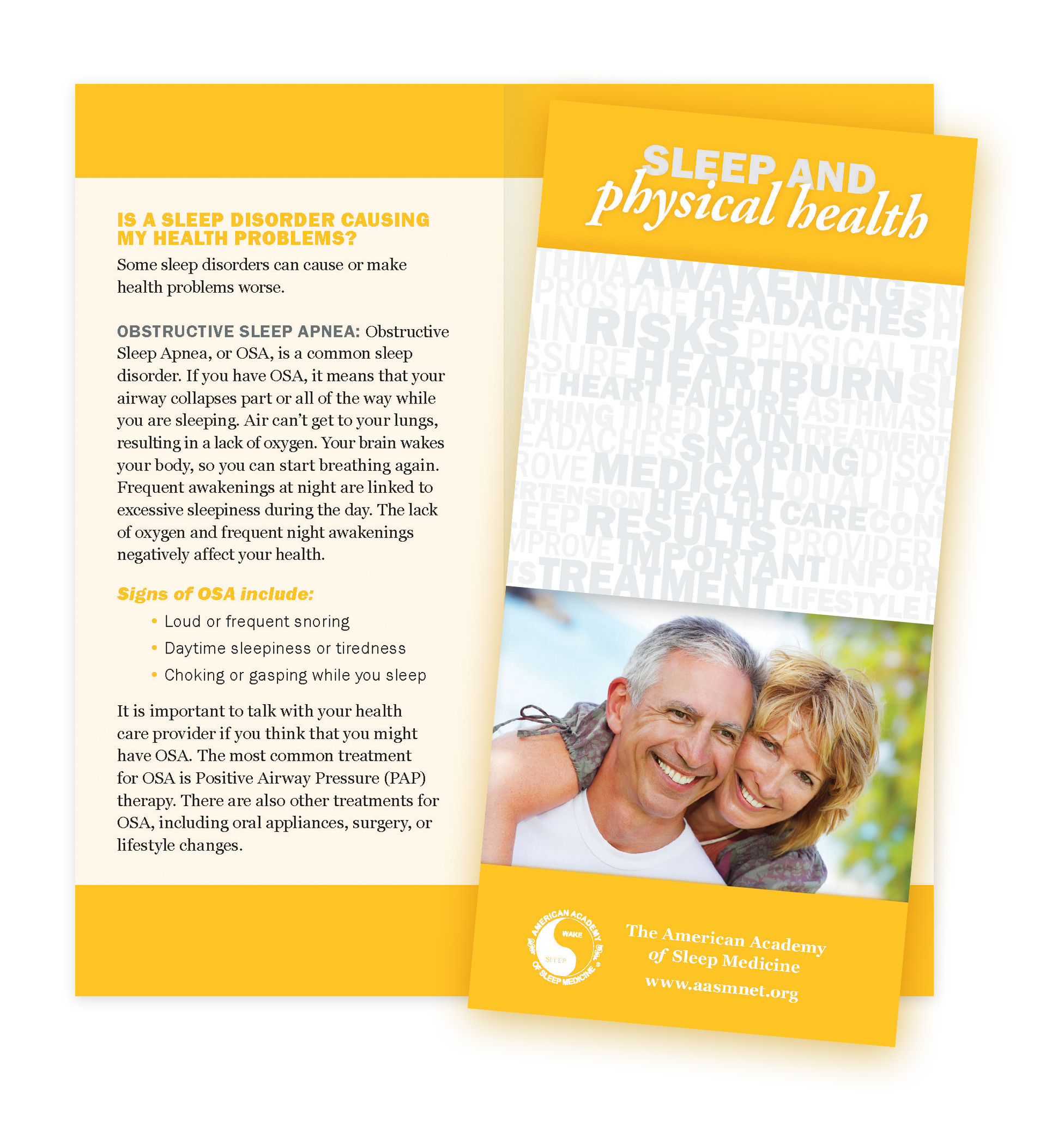 Sleep & Physical Health Patient Education Brochures (50 brochures)