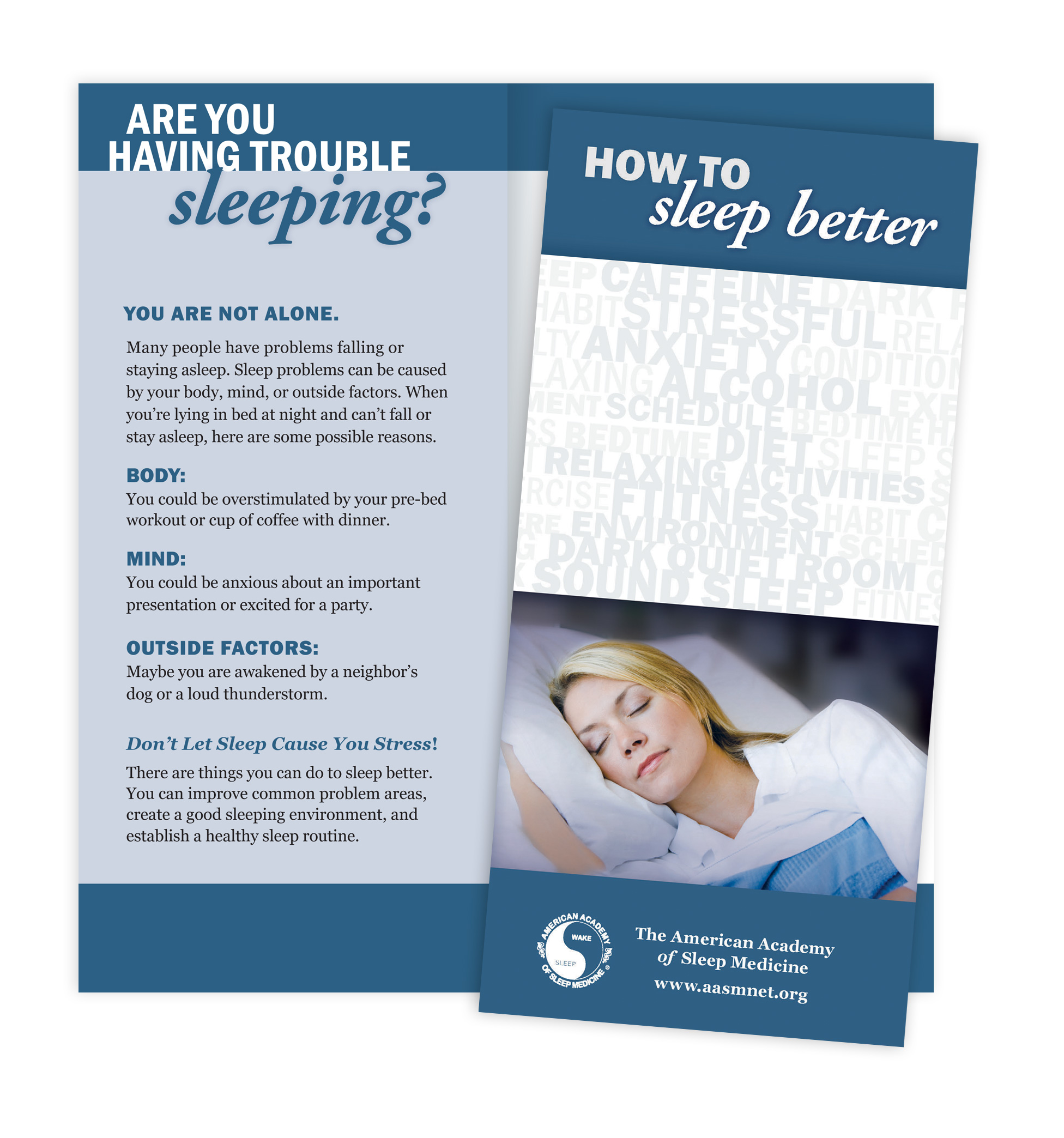 How to Sleep Better Patient Education Brochures (50 brochures)