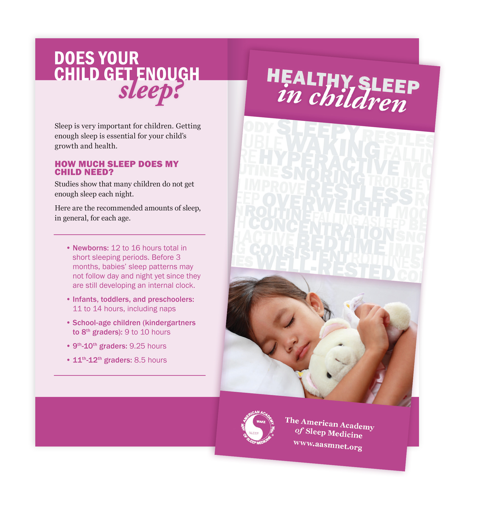 Healthy Sleep in Children Patient Education Brochures (50 brochures)